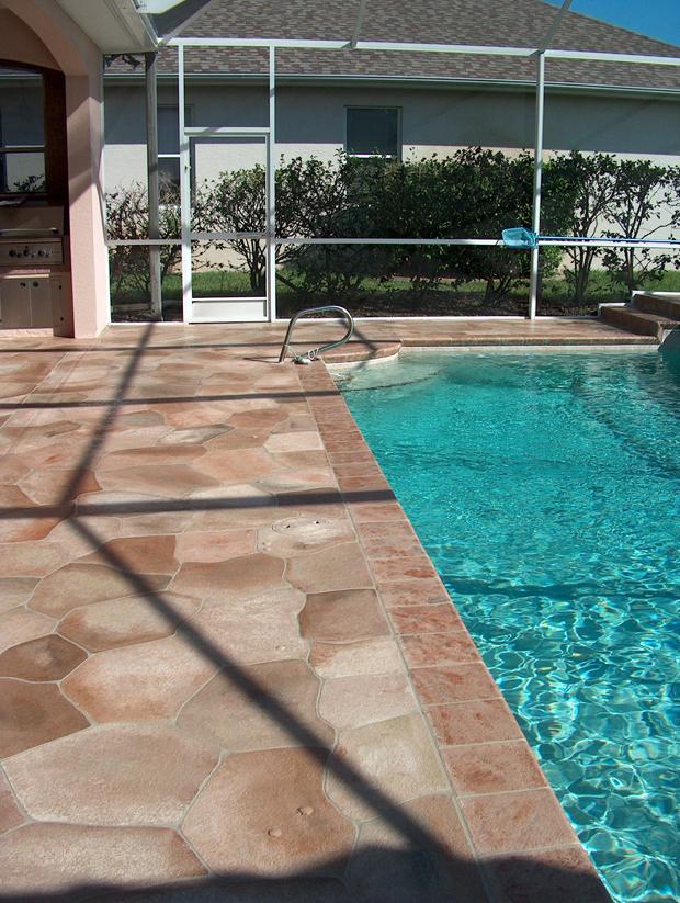 Flagstone Pool Deck Ideas For Inground Pools : Concrete designs florida flagstone pool deck