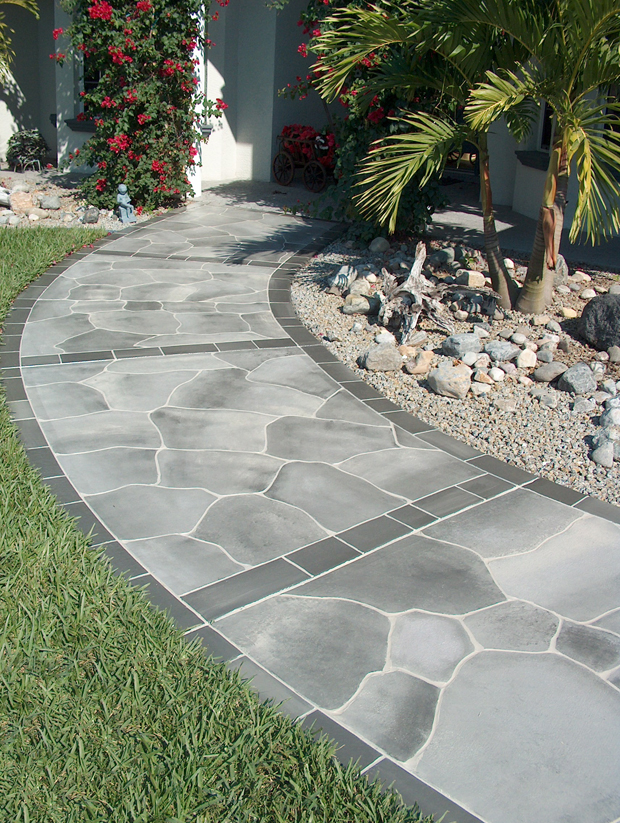Concrete Designs Florida | Flagstone Walkway