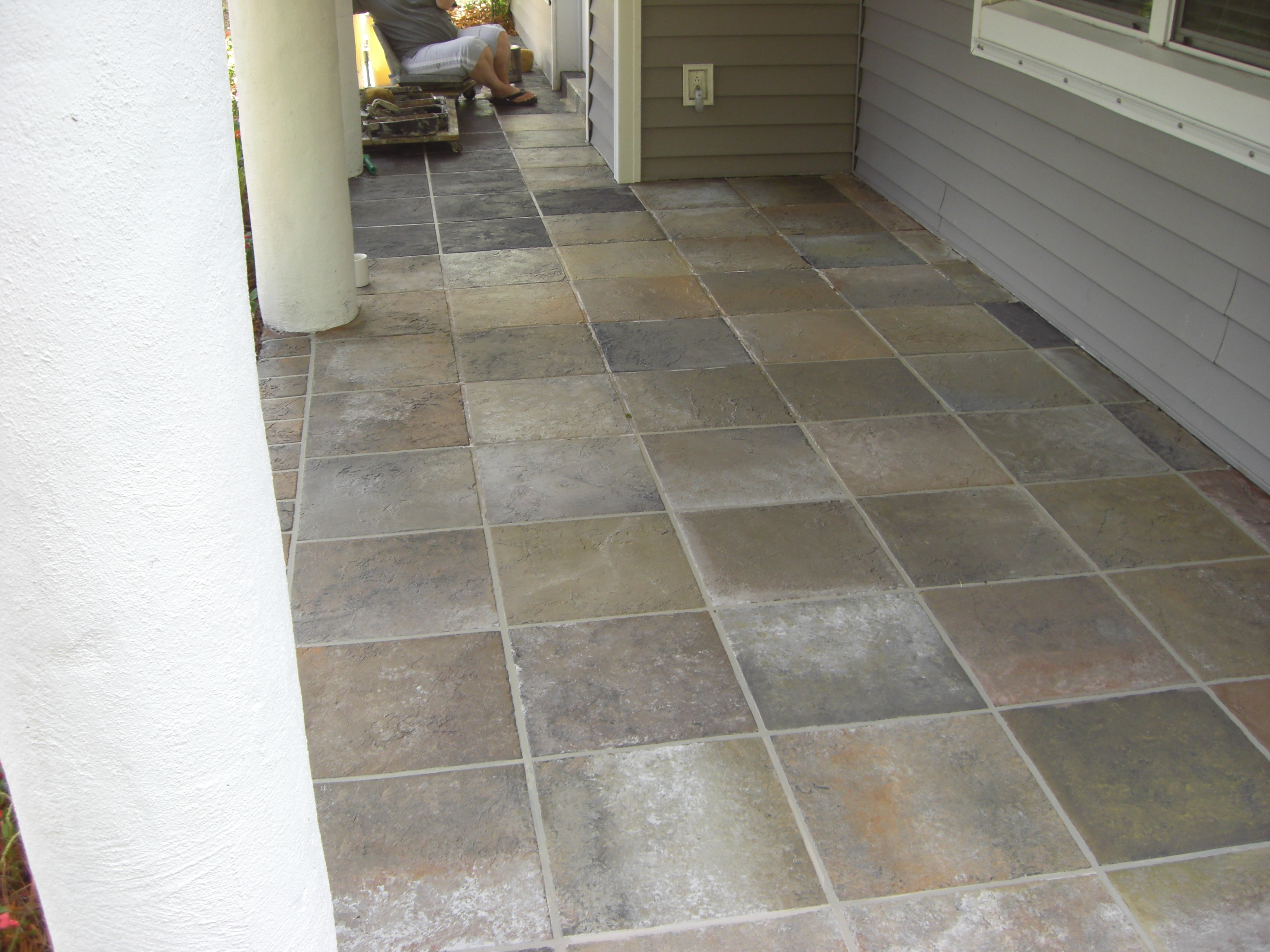 Concrete designs florida concrete refinishing for Terrace tiles