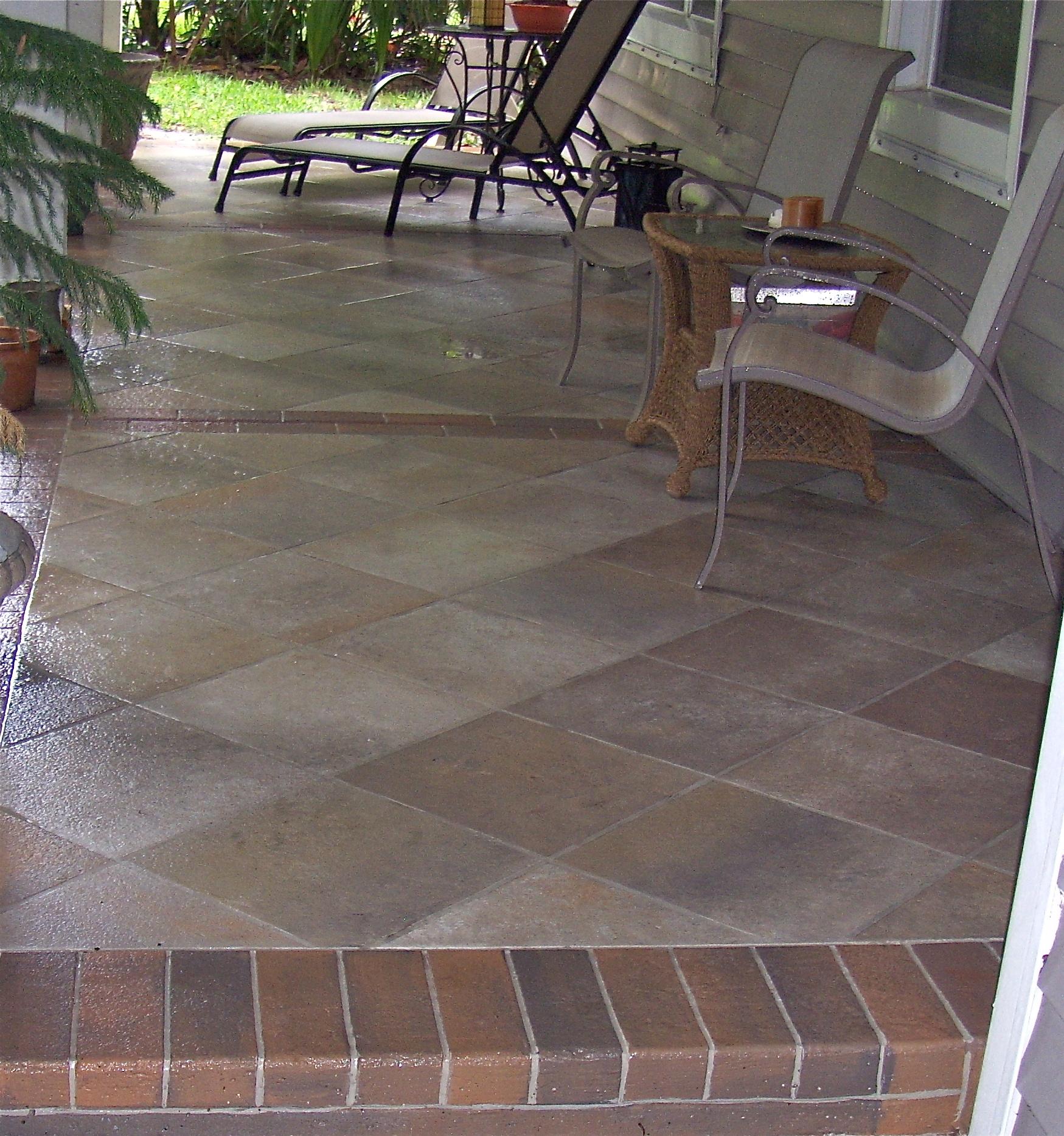 Concrete Tile Home Ideas: Outdoor Tile Over Concrete