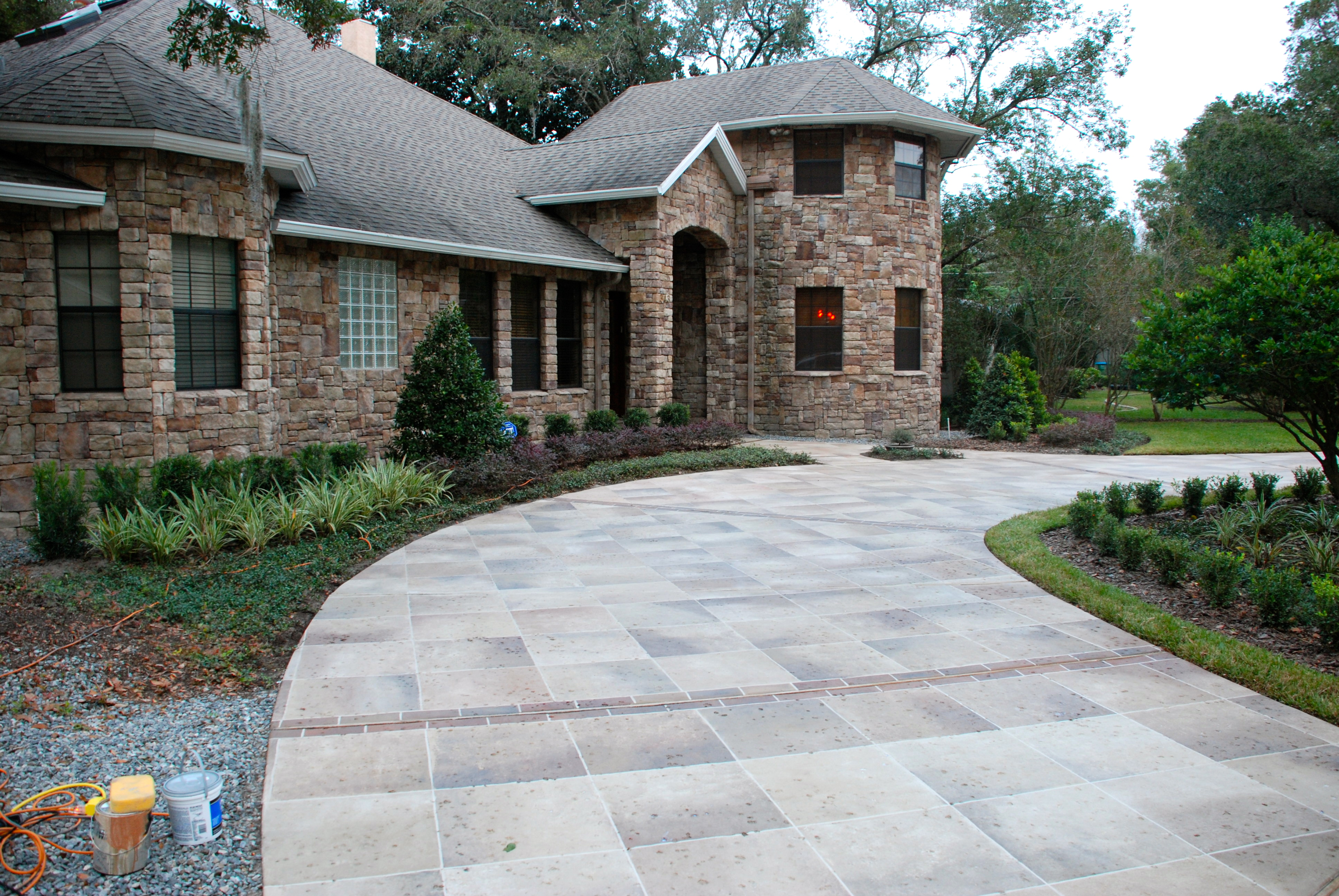 Painted Driveways The Villages Florida Concrete Designs