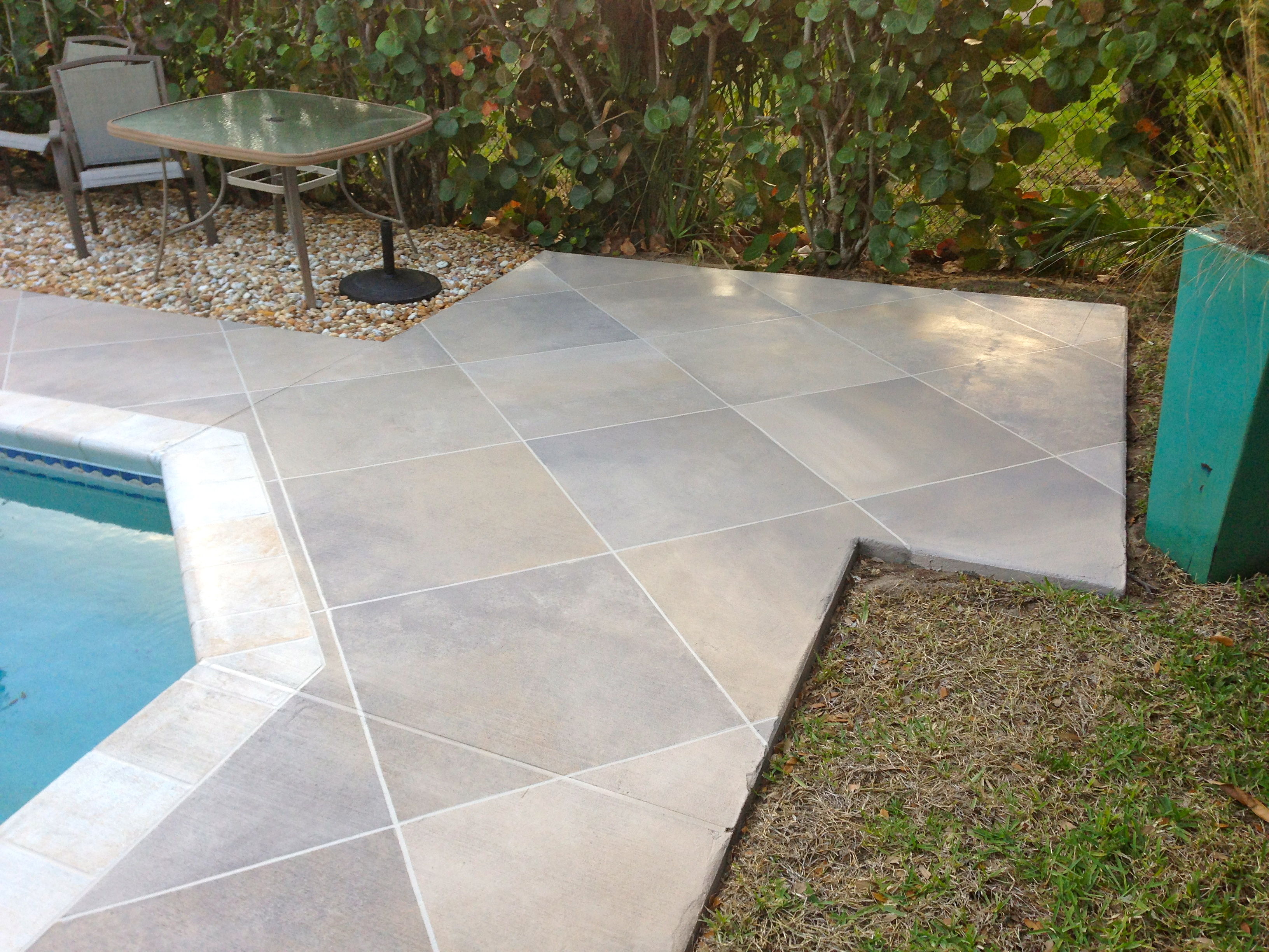 Colored Concrete Pool Deck Concrete Designs Florida  Tile Pool Deck
