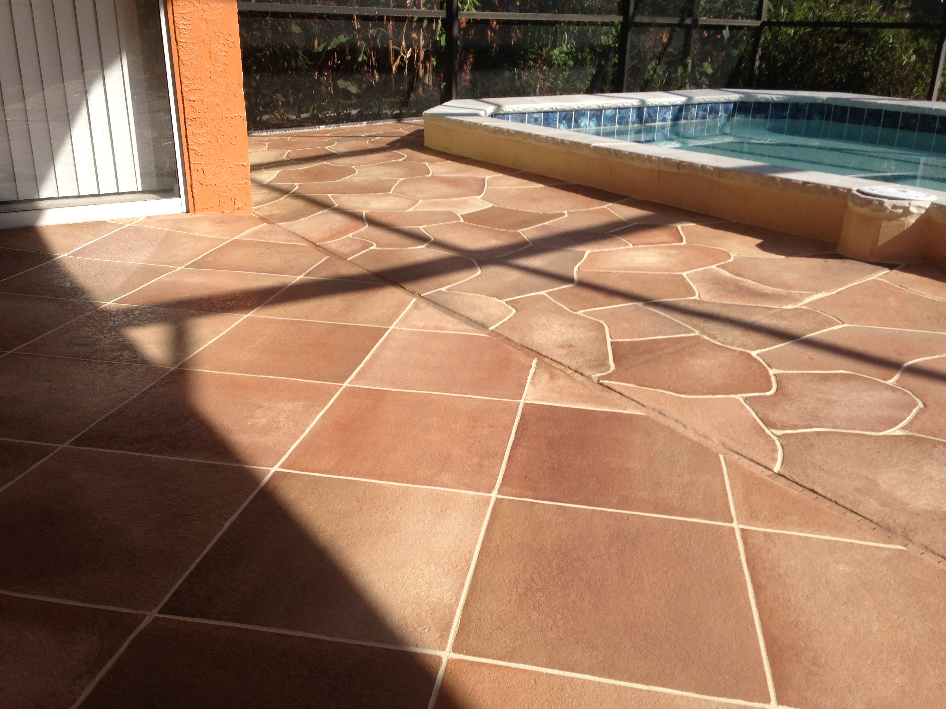 Concrete Designs Florida Flagstone Pool Deck
