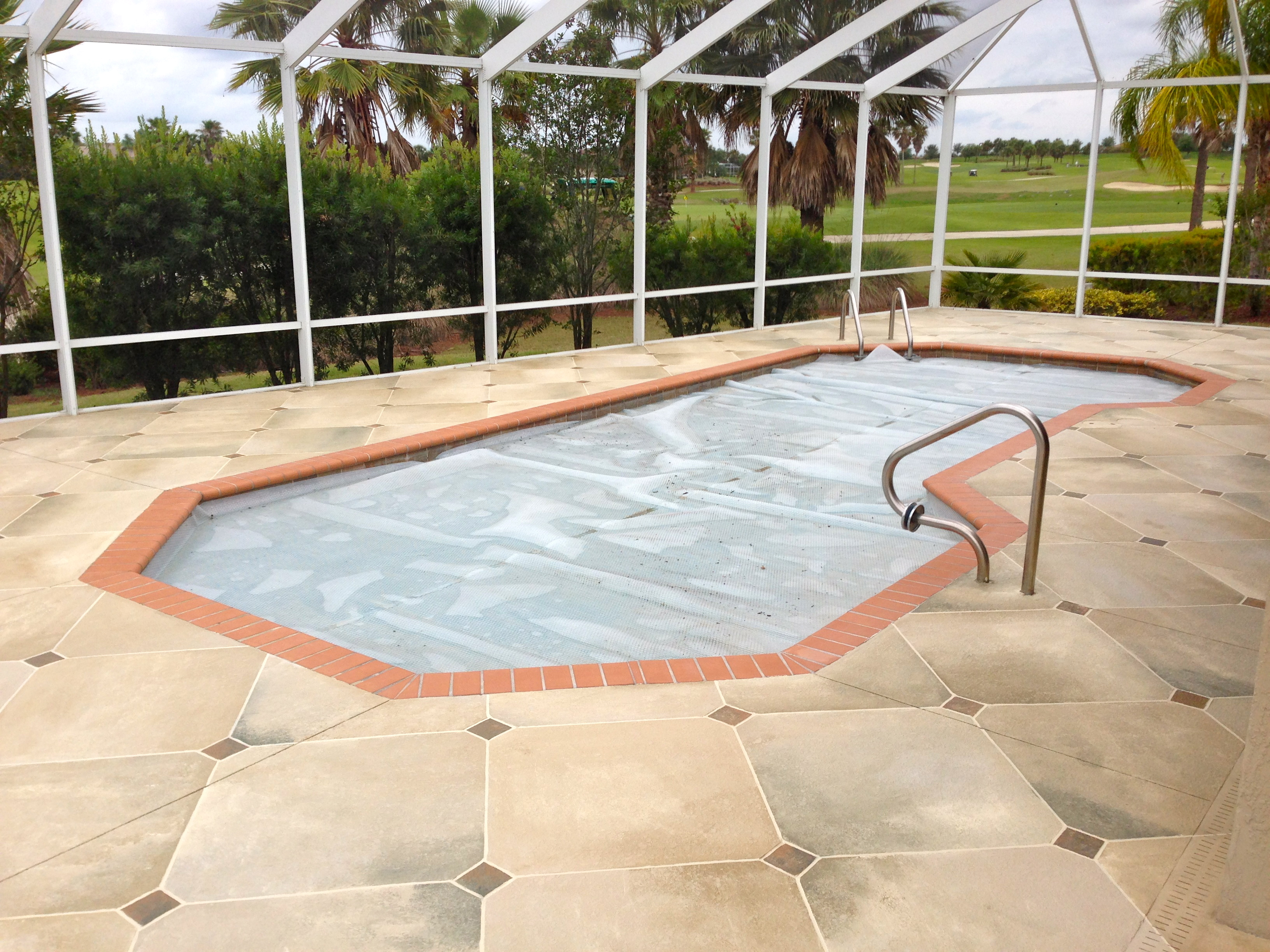 Concrete Designs Florida | Travertine Pool Deck