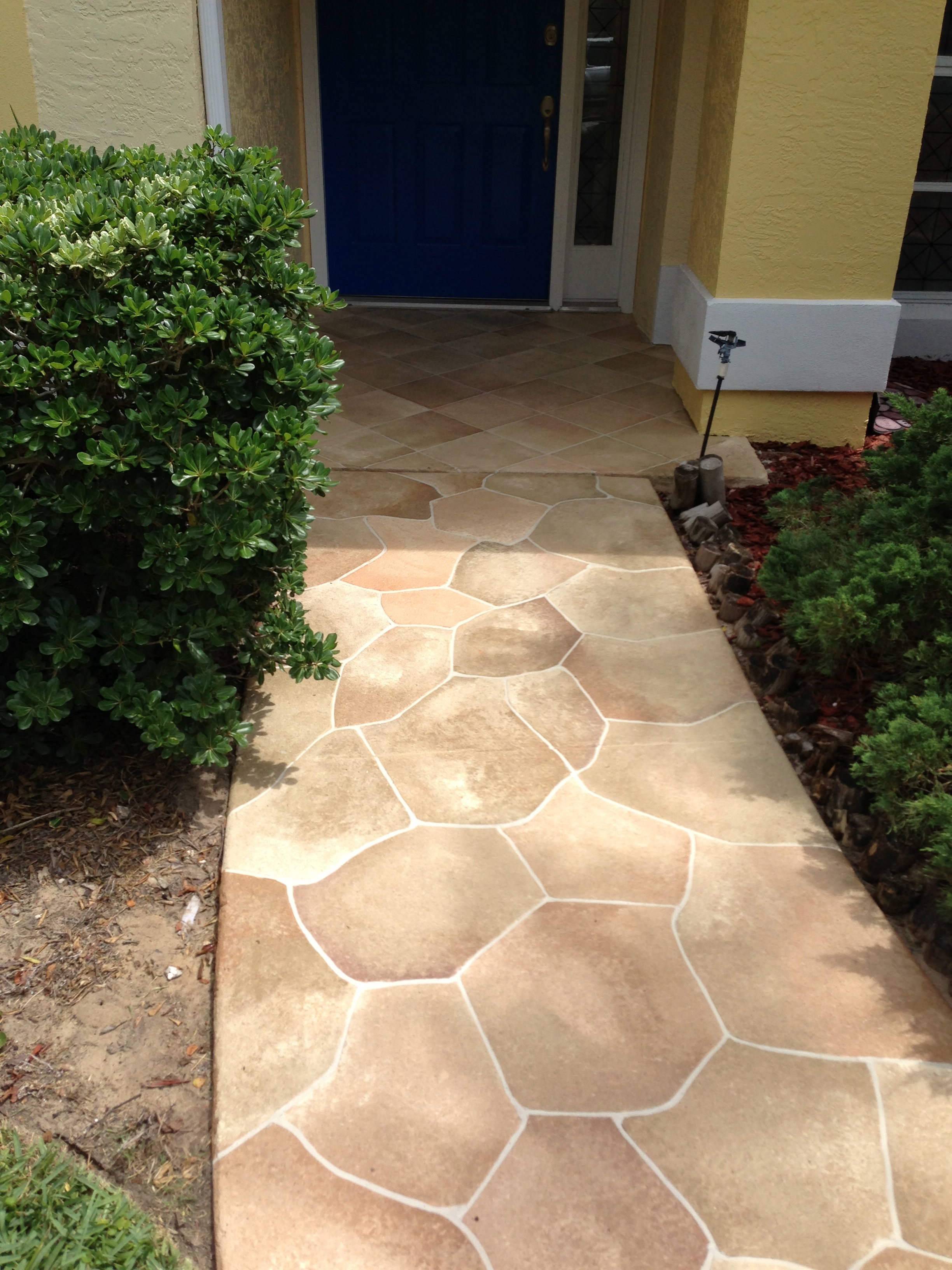 Concrete Designs Florida New Flagstone And Tile Entryway