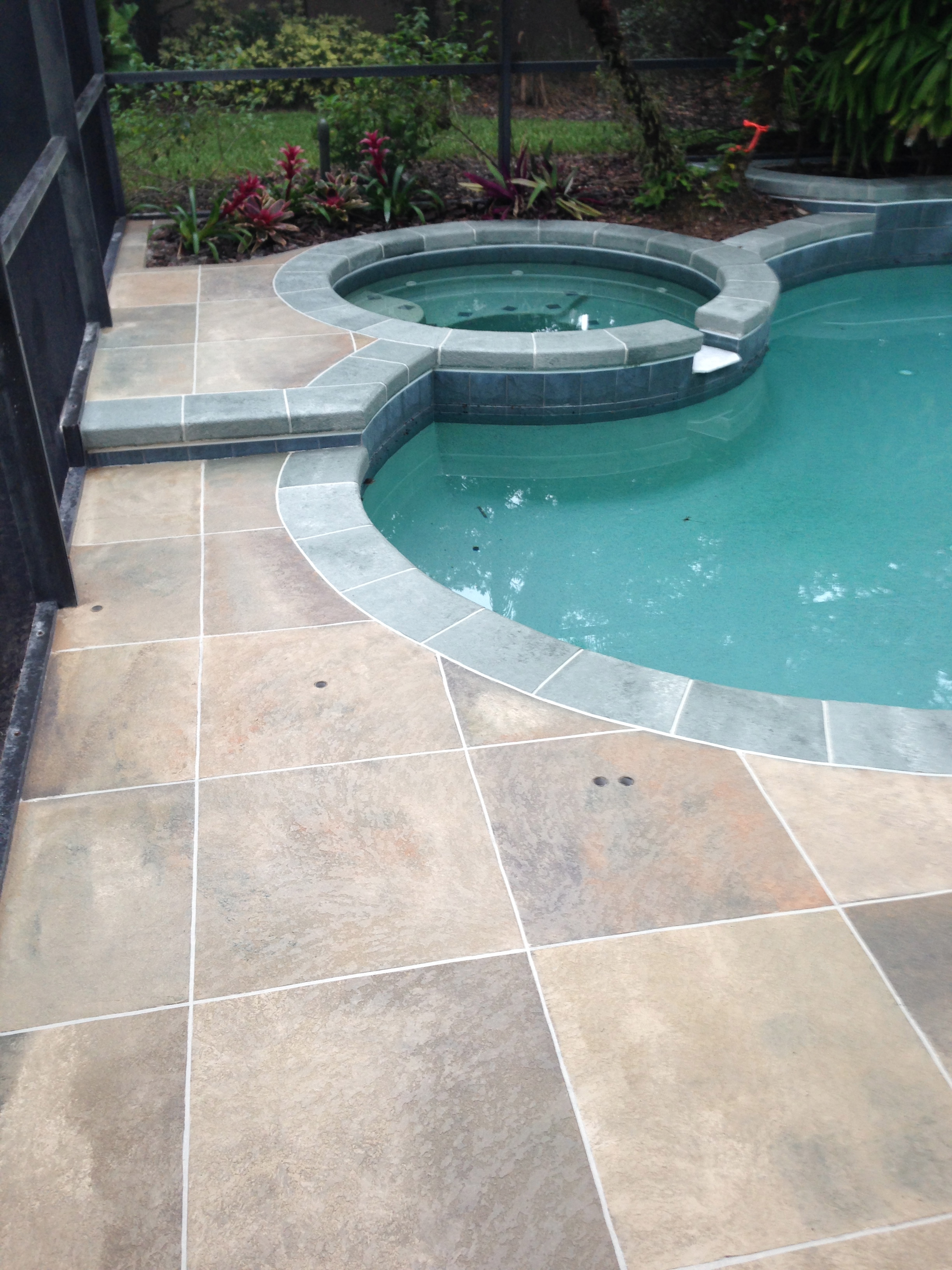 Tile for pool deck tile design ideas for Concrete pool designs