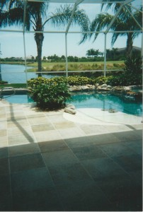 Pool deck when it was originally completed in 2001