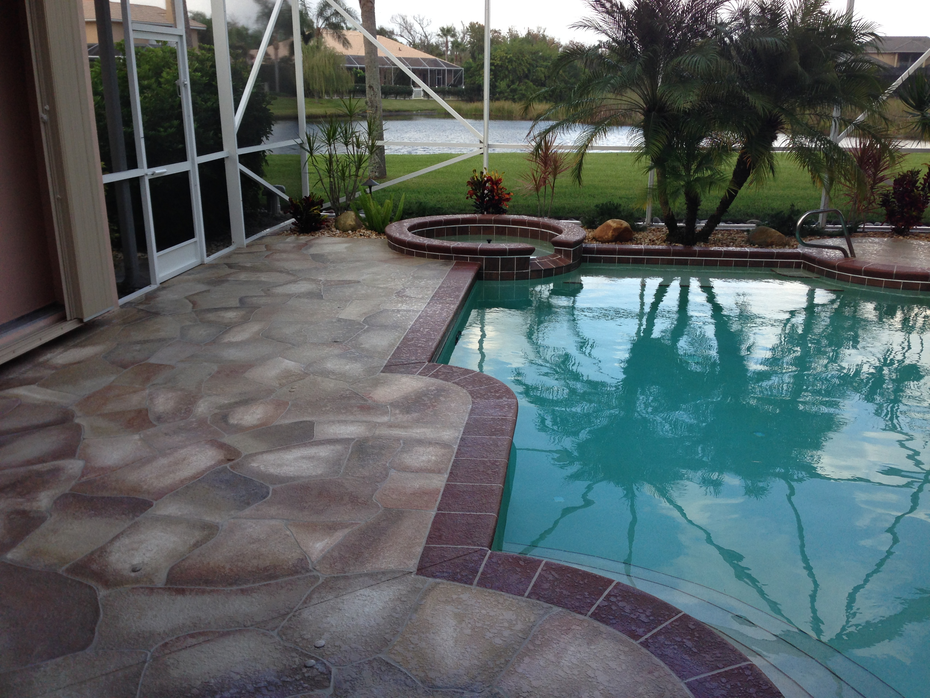 concrete designs florida pool deck decorating