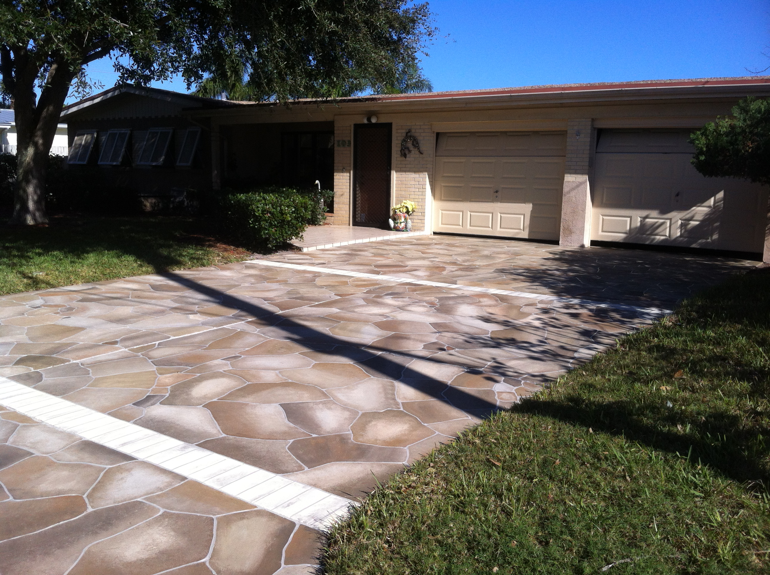 these homeowners will enjoy their beautiful driveway for years to come blanchard20131 - Concrete Driveway Design Ideas