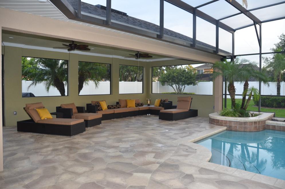 Concrete designs florida travertine pool deck florida for Pool design in florida