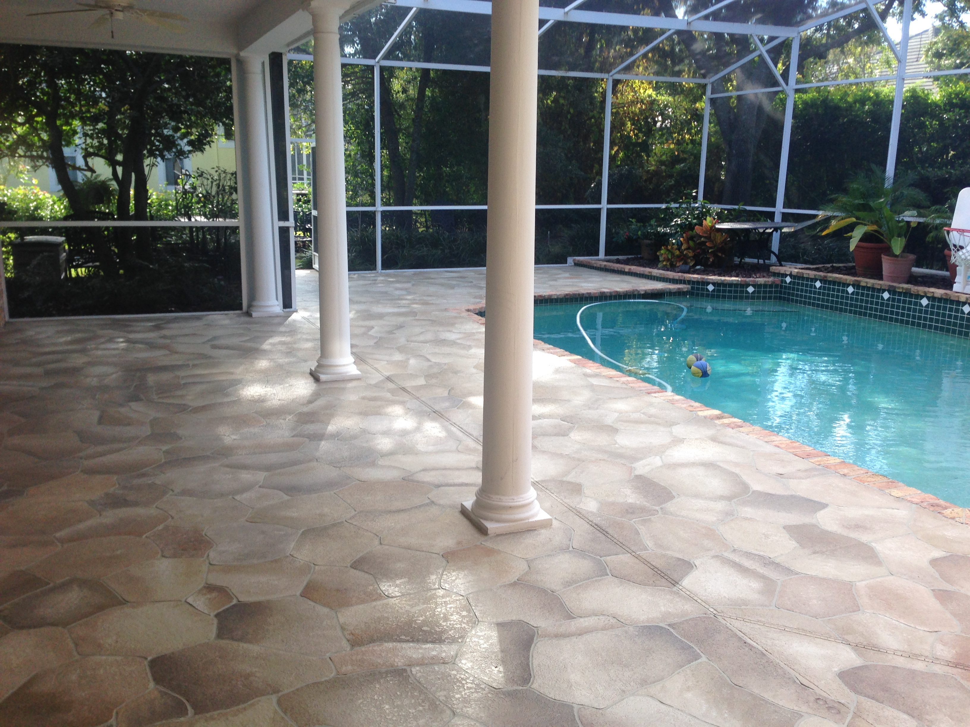 Pool Deck Decorating Ideas Concrete Patios