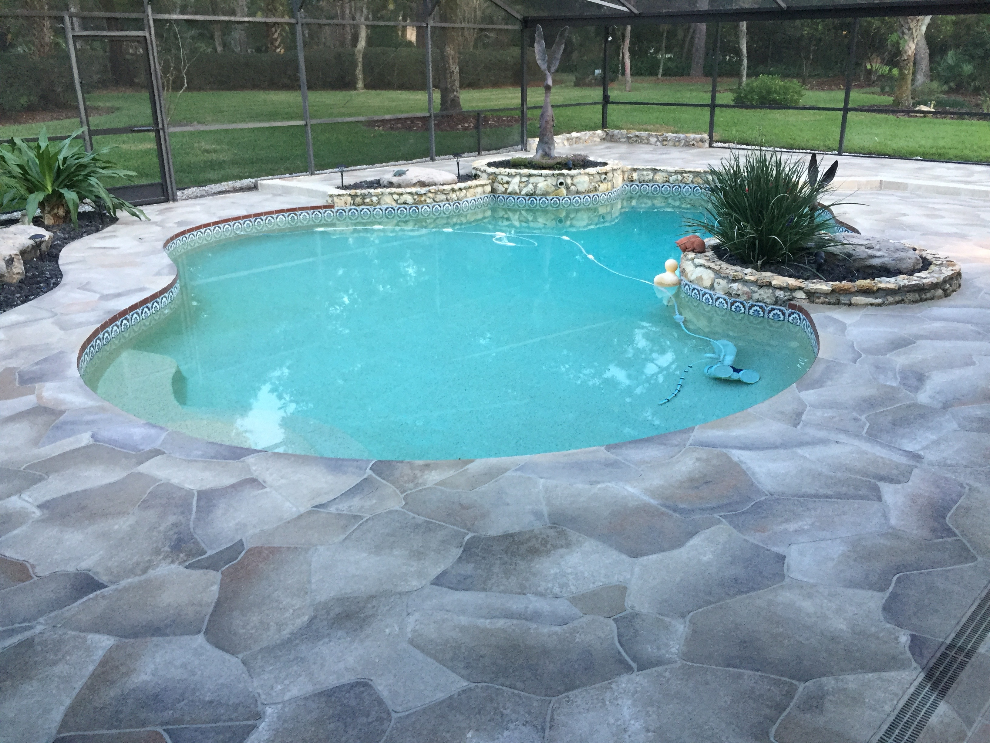 Concrete designs florida decorative pool deck florida for Pool designs florida