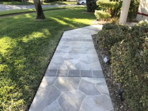 concrete designs florida flagstone walkway with tile accents