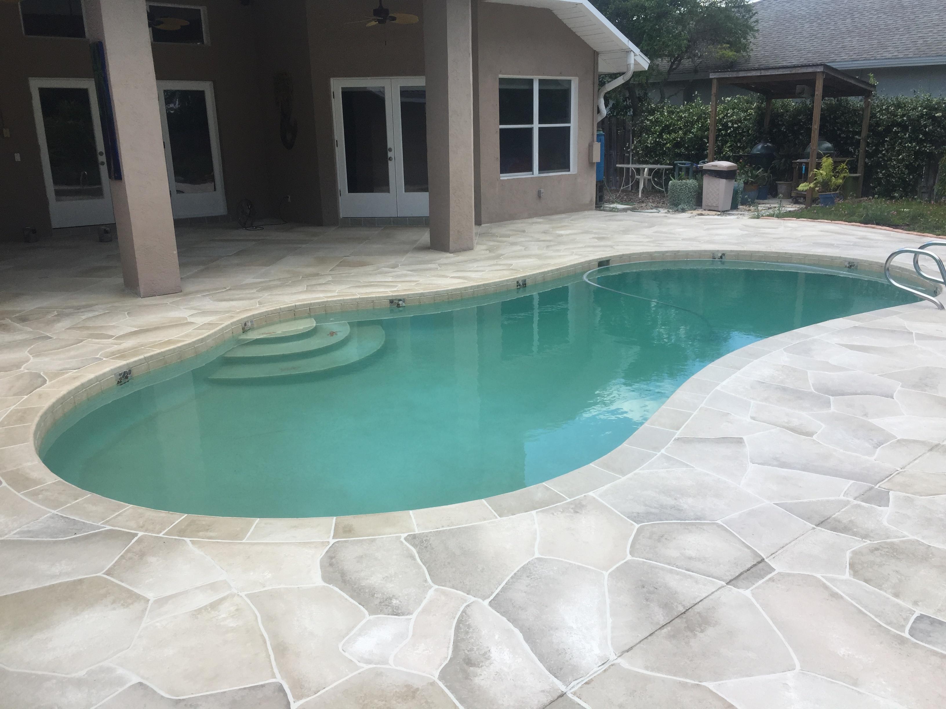 Concrete Designs Florida | decorative pool deck florida on Patio Ideas Around Pool id=36039